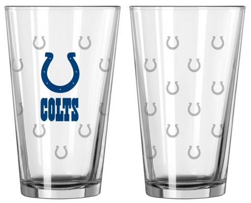 Indianapolis Colts Satin Etch Pint Glass - Set of 2
