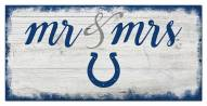 Indianapolis Colts Script Mr. & Mrs. Sign