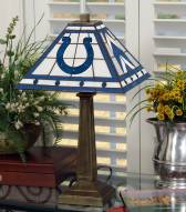 Indianapolis Colts Stained Glass Mission Table Lamp