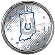 Indianapolis Colts State of Mind Chrome Clock