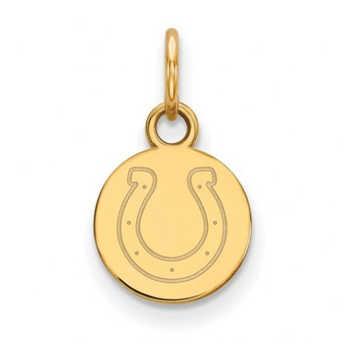Indianapolis Colts Sterling Silver Gold Plated Extra Small Pendant