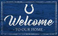 Indianapolis Colts Team Color Welcome Sign