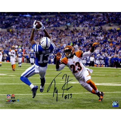 """Indianapolis Colts T.Y. Hilton Falling Backwards Catch Signed 16"""" x 20"""" Photo"""