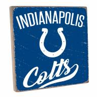Indianapolis Colts Vintage Square Wall Sign