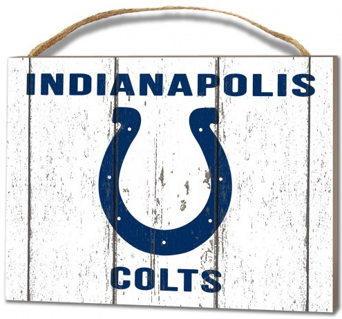 Indianapolis Colts Weathered Logo Small Plaque