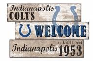Indianapolis Colts Welcome 3 Plank Sign