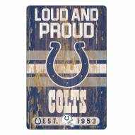 Indianapolis Colts Slogan Wood Sign