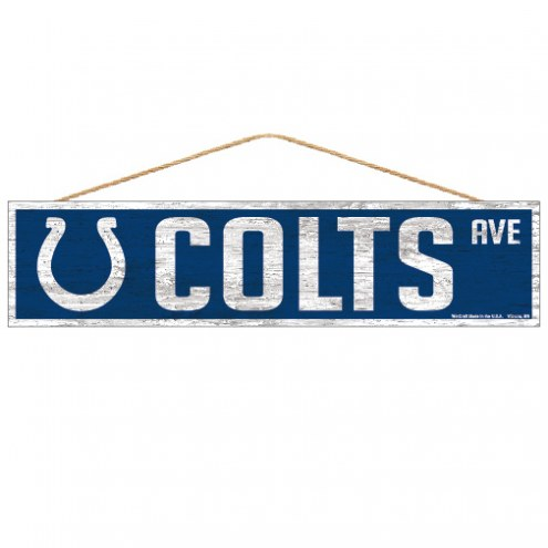 Indianapolis Colts Wood Avenue Sign
