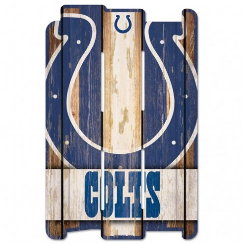 Indianapolis Colts Wood Fence Sign
