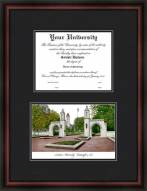 Indiana University Bloomington Diplomate Framed Lithograph with Diploma Opening