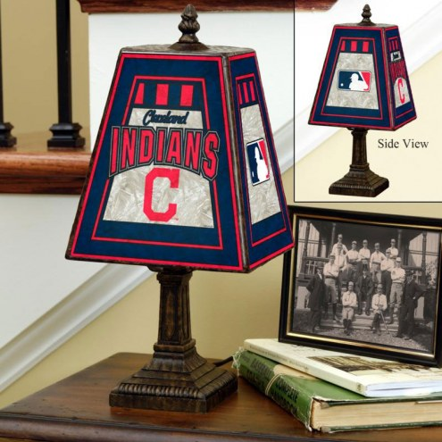 Cleveland Indians MLB Hand-Painted Art Glass Table Lamp