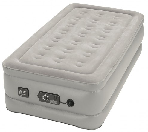 Insta-Bed Raised Twin Air Mattress with Never Flat Pump