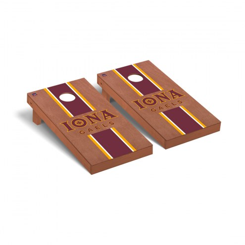 Iona Gaels Rosewood Stained Stripe Cornhole Game Set