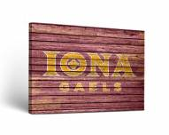 Iona Gaels Weathered Canvas Wall Art