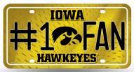 Iowa Hawkeyes #1 Fan License Plate