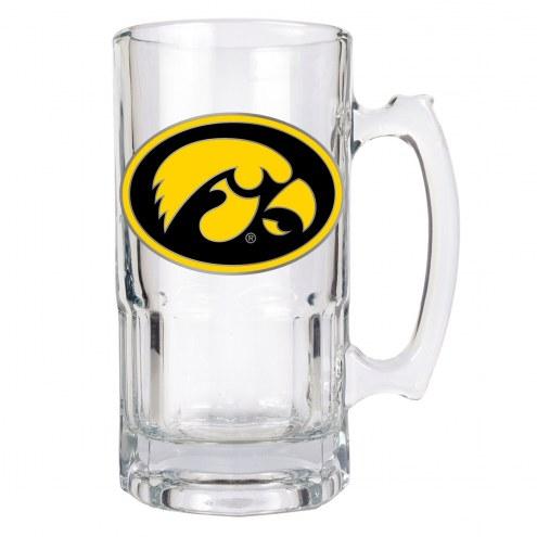 Iowa Hawkeyes College 1 Liter Glass Macho Mug