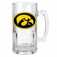 Iowa Hawkeyes College 1 Liter Glass Macho Mug