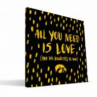"Iowa Hawkeyes 12"" x 12"" All You Need Canvas Print"