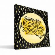 """Iowa Hawkeyes 12"""" x 12"""" Born a Fan Canvas Print"""