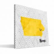 "Iowa Hawkeyes 12"" x 12"" Home Canvas Print"