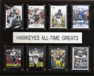 """Iowa Hawkeyes 12"""" x 15"""" All-Time Greats Plaque"""