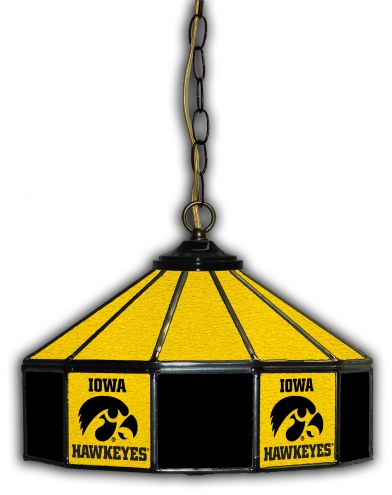"Iowa Hawkeyes 14"" Glass Pub Lamp"
