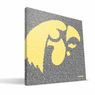 "Iowa Hawkeyes 16"" x 16"" Typo Canvas Print"