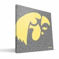 "Iowa Hawkeyes 16"" x 16"" Typo Canvas Print"