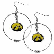 "Iowa Hawkeyes 2"" Hoop Earrings"