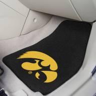 Iowa Hawkeyes 2-Piece Carpet Car Mats