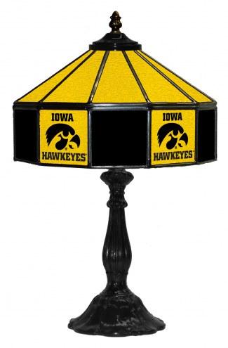 "Iowa Hawkeyes 21"" Glass Table Lamp"