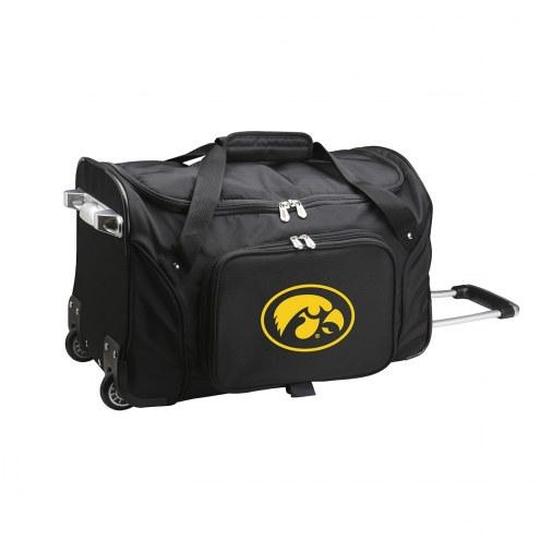 """Iowa Hawkeyes 22"""" Rolling Duffle Bag"""
