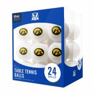 Iowa Hawkeyes 24 Count Ping Pong Balls