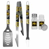 Iowa Hawkeyes 3 Piece Tailgater BBQ Set and Salt and Pepper Shakers