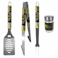 Iowa Hawkeyes 3 Piece Tailgater BBQ Set and Season Shaker