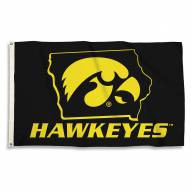 Iowa Hawkeyes 3' x 5' State Outline Flag