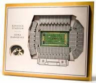 Iowa Hawkeyes 5-Layer StadiumViews 3D Wall Art