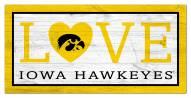 "Iowa Hawkeyes 6"" x 12"" Love Sign"