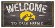 "Iowa Hawkeyes 6"" x 12"" Welcome Sign"