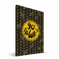 "Iowa Hawkeyes 8"" x 12"" Geometric Canvas Print"