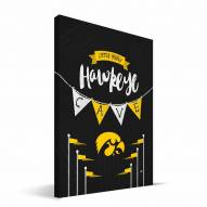 "Iowa Hawkeyes 8"" x 12"" Little Man Canvas Print"