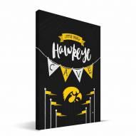 "Iowa Hawkeyes 8"" x 12"" Little Man Canvas Print"