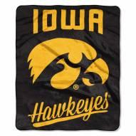 Iowa Hawkeyes Alumni Raschel Throw Blanket