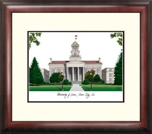 Iowa Hawkeyes Alumnus Framed Lithograph