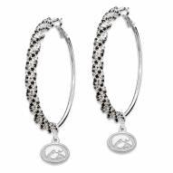 Iowa Hawkeyes Amped Logo Crystal Earrings