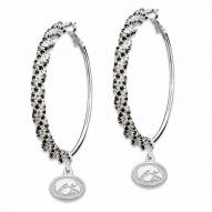 Iowa Hawkeyes Amped Logo Crystal Earrings