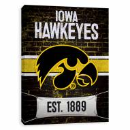 Iowa Hawkeyes Brickyard Printed Canvas