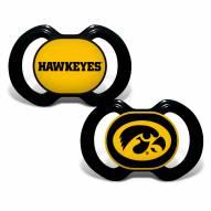 Iowa Hawkeyes Baby Pacifier 2-Pack