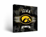 Iowa Hawkeyes Banner Canvas Wall Art