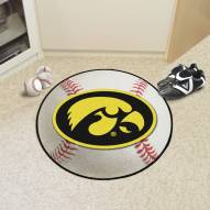 Iowa Hawkeyes Baseball Rug